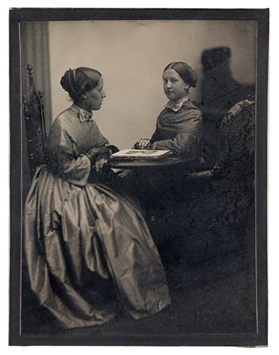 A Seite 76 Portrait of two youn women, ca. 1850