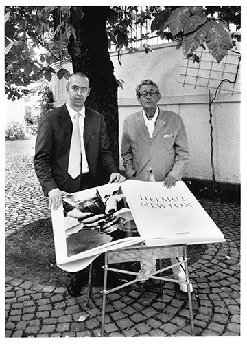 HN Benedikt Taschen and Helmut Newton in Cologne