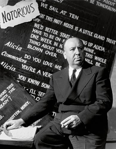 Icons 07 Director Alfred Hitchcock by Ernest Bachrach for Notorius, 1946. RKO ∏ John Kobal Foundation