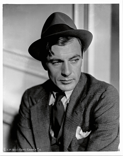 Icons 11 Gary Cooper by Bud Fraker for Mr. Deeds Goes to Town, 1936. Frank Capra Productions, Columbia Pictures ∏ John Kobal Foundation