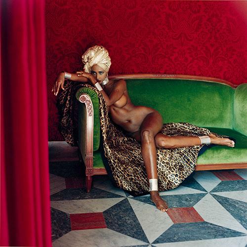 Newton 4_Helmut Newton_Iman_American Vogue_Hotel Negresco_Nice 1989
