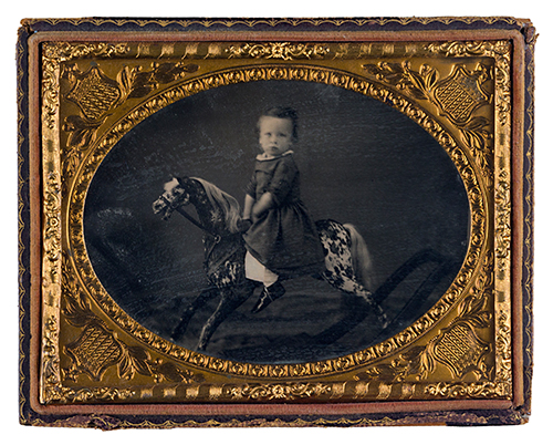 Seite 39 Portrait of a chil on a rocking horse, ca. 1855
