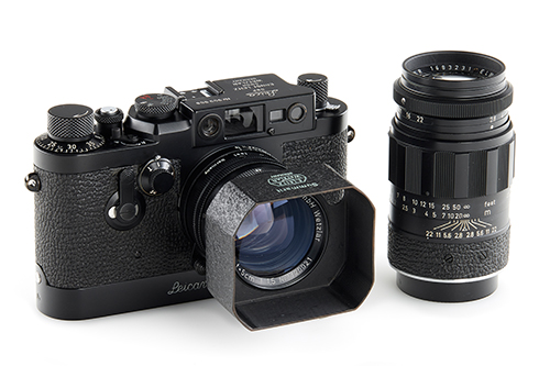 Leica IIIg black paint outfit