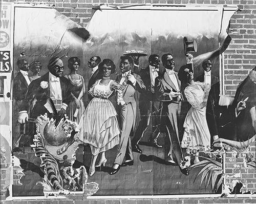 Eavans Taf. 75 Minstrel Show-Plakat, Detail, 1936