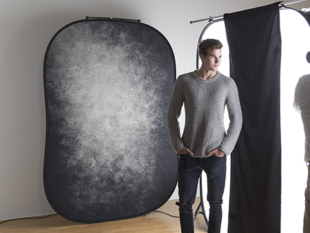 5 x 6 zoll Lastolite Hintergrund faltbar 1,5 x 1,8 m schwarz//wei/ß